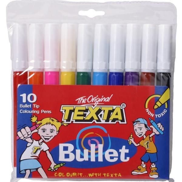 ACCO Textra Bullet Tip Colour Pens 10's