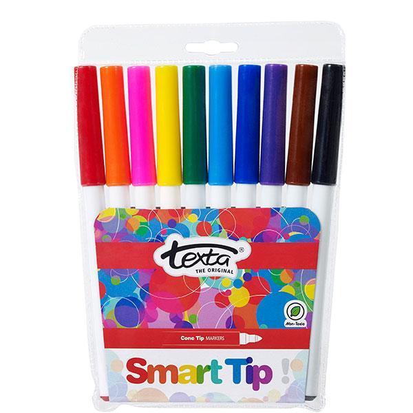 ACCO Textra Smart Tip Colour Pens 10's