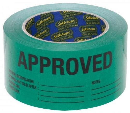 Acme APPROVED Printed Rippable Sellotape Label 60mm x 150mm