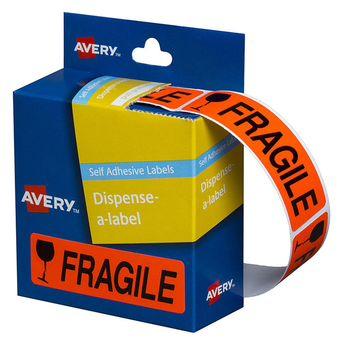 ACME Avery Printed Labels Dispenser pack - 'FRAGILE'