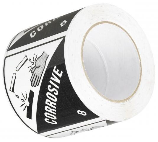 Acme CORROSIVE 8 Printed Rippable Sellotape Label 96mm x 100mm