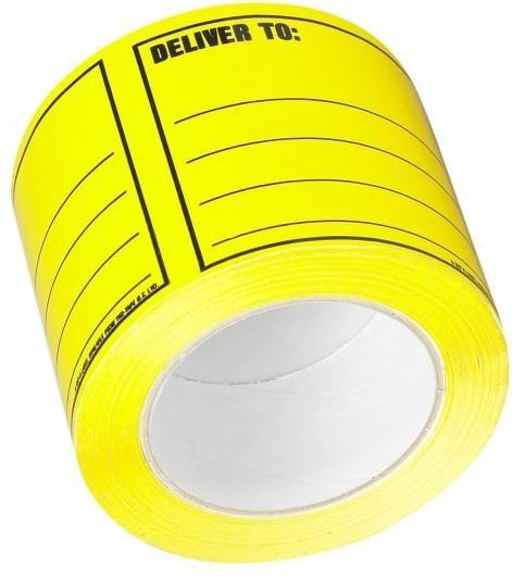 Acme DELIVER TO Printed Rippable Sellotape Label 96mm x 125mm