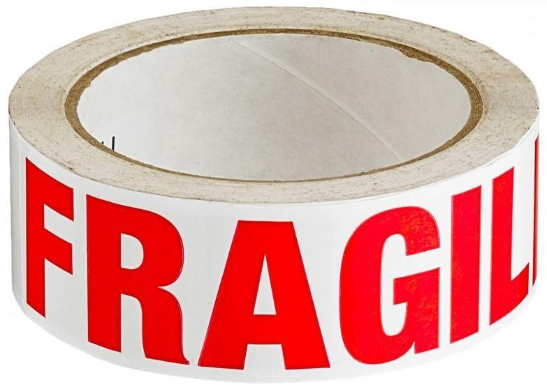 Acme FRAGILE Printed Sellotape 36mm x 66mt