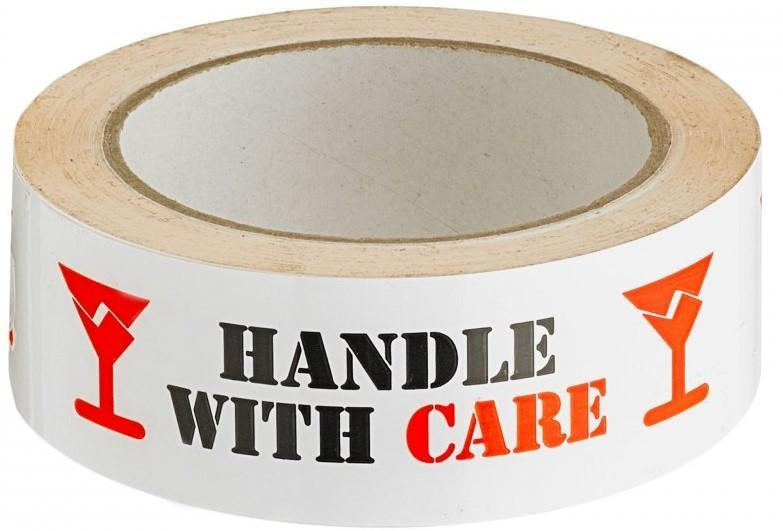 Acme HANDLE WITH CARE Printed Sellotape 36mm x 66mt
