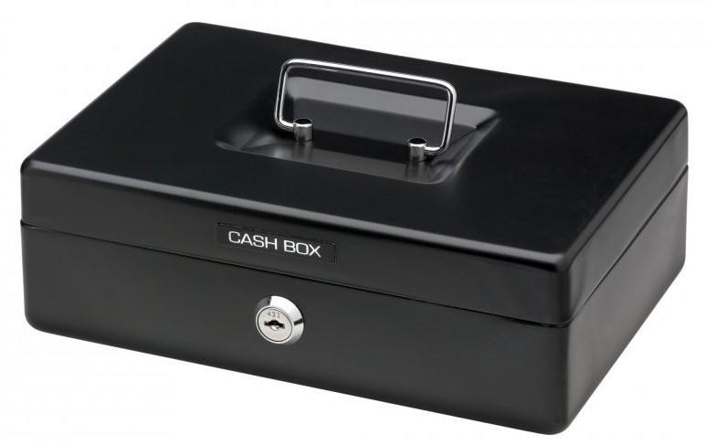Acme Office Mate Cash Box 10 inch Black