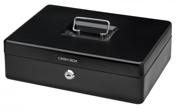 Acme Office Mate Cash Box 12 inch Black