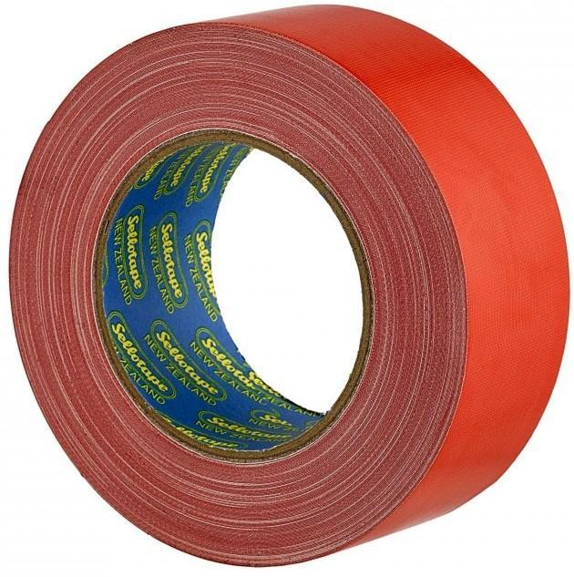 Acme Sellotape Red Cloth Tape 48mm x 30mt