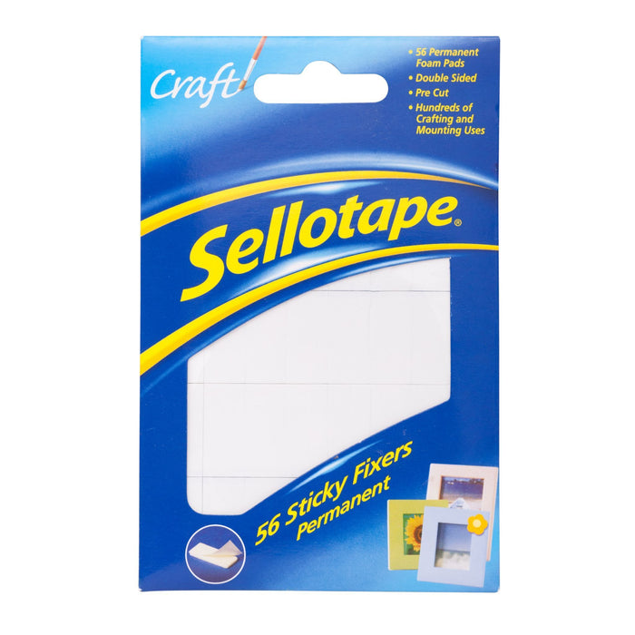 ACME Sellotape Sticky Fixer Pads 12mm x 25mm x 56's Pack