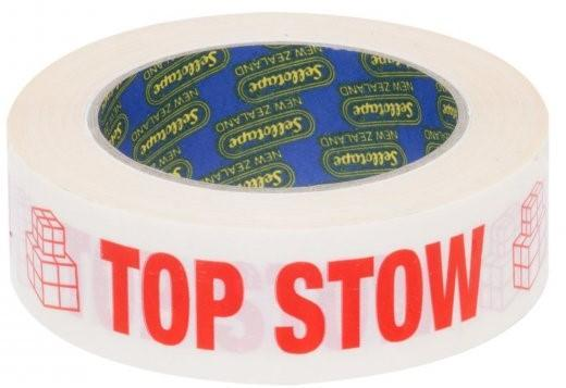 Acme TOP STOW Printed Rippable Sellotape Label 30mm x 125mm