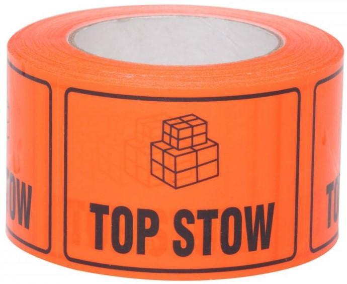 Acme TOP STOW Printed Rippable Sellotape Label 72mm x 100mm