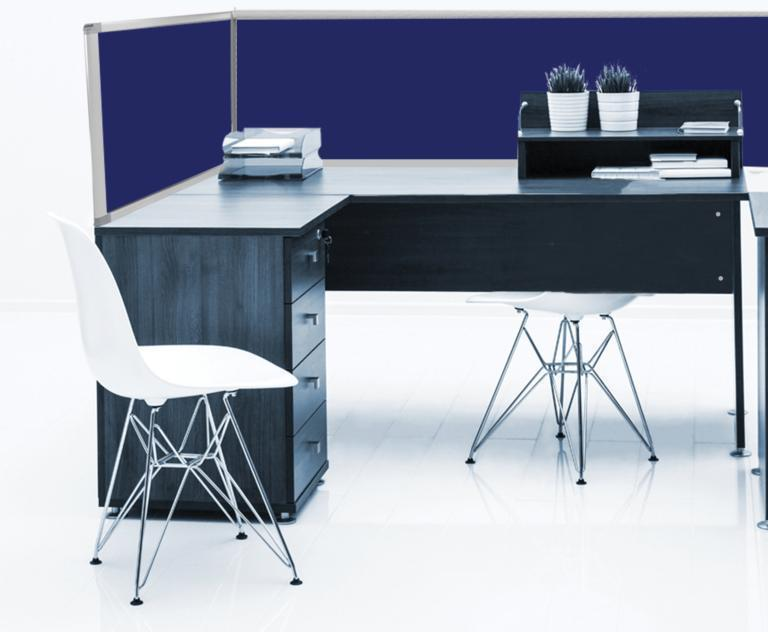 Boyd Visuals Desk Mounted Partitions 450mm High x 1460mm Wide - Charcoal