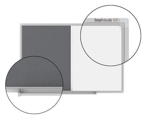 Boyd Visuals Dualboard - Pinboard & Whiteboard 900mm x 1200mm