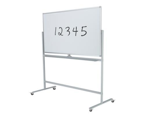 Boyd Visuals Mobile Lacquered Steel Double Sided Whiteboard 1200 x 900mm On Stand