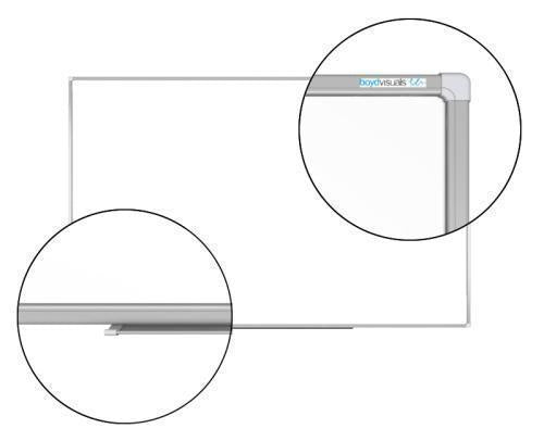 Boyd Visuals Porcelain Whiteboard 1550 x 3000mm - Magnetic