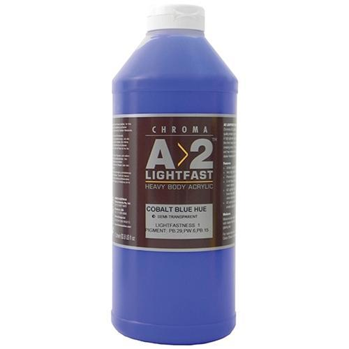 Croxley A2 Lightfast Heavy Body Acrylic Paint 1 Litre - Cobalt Blue