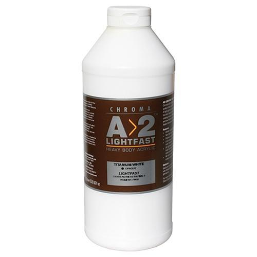 Croxley A2 Lightfast Heavy Body Acrylic Paint 1 Litre - Titanium White
