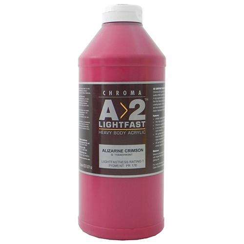 Croxley A2 Lightfast Heavy Body Acrylic Paint 120ml - Alizarine Crimson