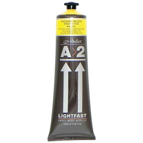 Croxley A2 Lightfast Heavy Body Acrylic Paint 120ml - Cadmium Medium Yellow