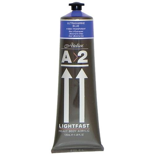 A2 Lightfast Heavy Body Acrylic Paint 120ml - Ultramarine Blue