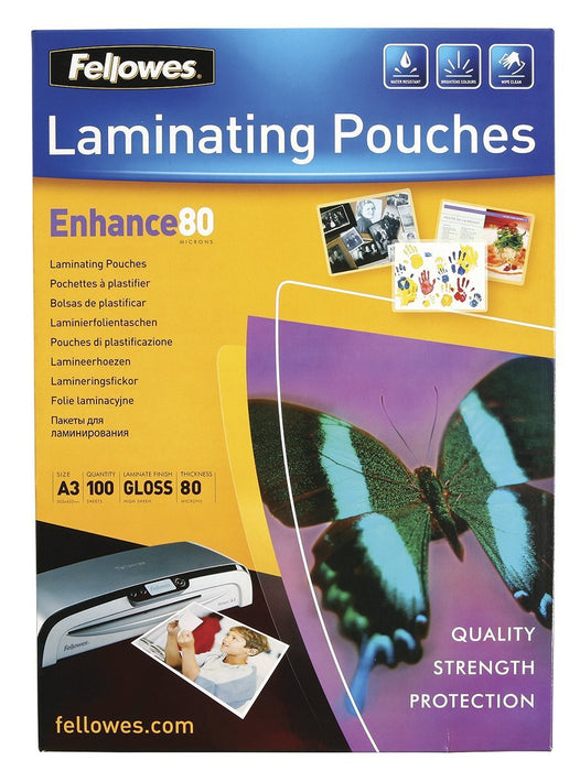 Croxley A3 Gloss Laminating Pouch 80 micron x 100's