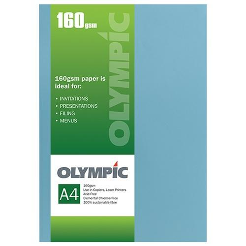 Croxley A4 160gsm Olympic Card Dark Blue x 15