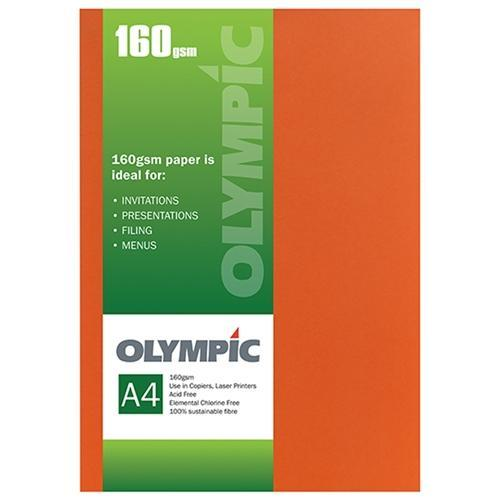 Croxley A4 160gsm Olympic Card Flame x 15