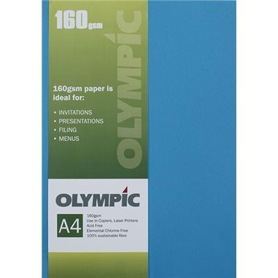 Croxley A4 160gsm Olympic Card Intensive Blue x 15