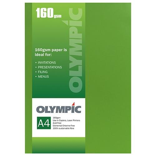 Croxley A4 160gsm Olympic Card Intensive Green x 15