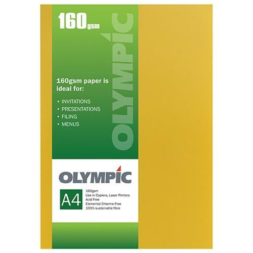 Croxley A4 160gsm Olympic Card Intensive Yellow x 15