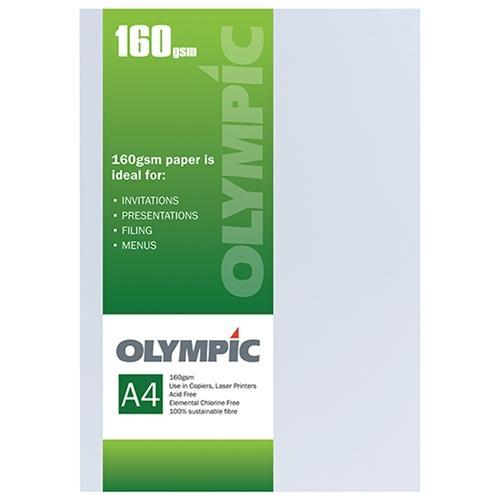 Croxley A4 160gsm Olympic Card White x 15