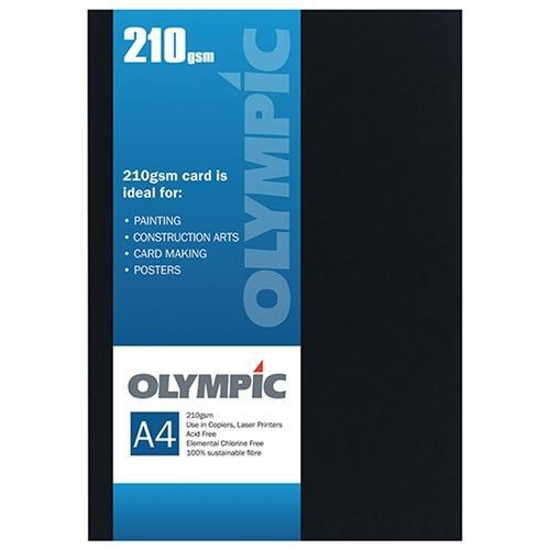 Croxley A4 210gsm Olympic Card Black x 12