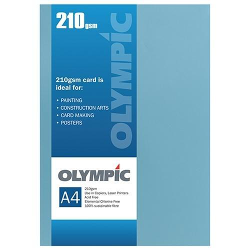 Croxley A4 210gsm Olympic Card Dark Blue x 12