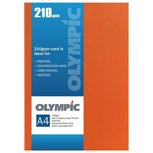 Croxley A4 210gsm Olympic Card Flame x 12