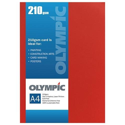 Croxley A4 210gsm Olympic Card Intensive Orange x 12