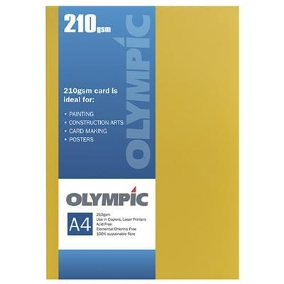 Croxley A4 210gsm Olympic Card Intensive Yellow x 12