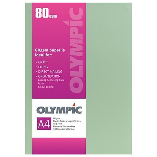 Croxley A4 80gsm Olympic Paper Green x 30