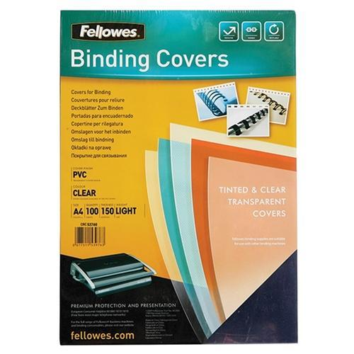 Croxley A4 Clear Binding Cover 150mic x 100's