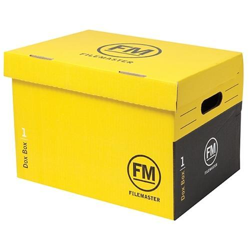 Croxley Archive Storage Box With Hinged Lid - Yellow