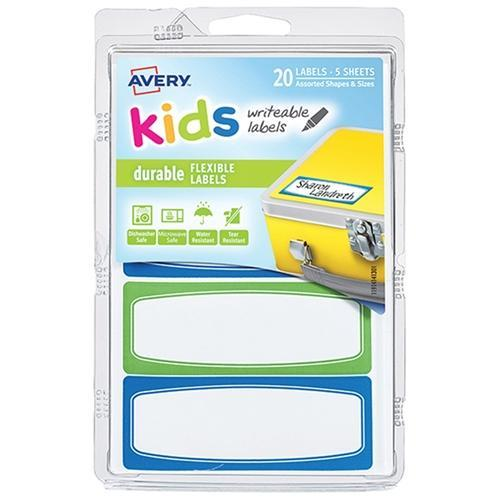 Croxley Avery Durable Labels - Kids Range 89 x 32mm