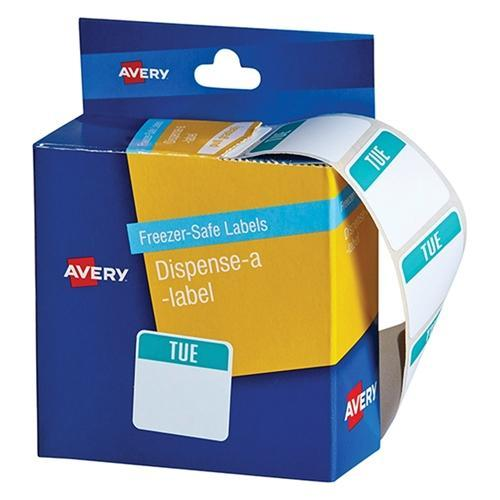 Croxley Avery Freezer Safe Labels Dispenser Pack - 'TUESDAY'
