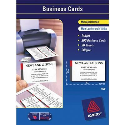 Croxley Avery Micro-Perforated Inkjet Business Card 200gsm