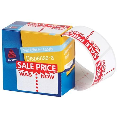 Croxley Avery Printed Labels Dispenser pack - 'SALE PRICE - WAS/NOW'