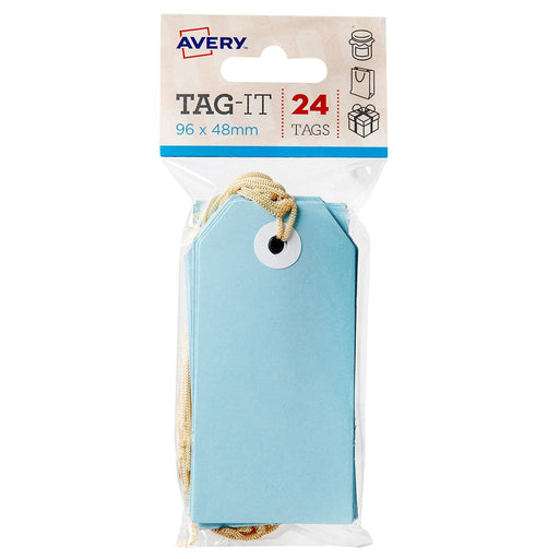 Croxley Avery Tag-It Luggage & Parcel Tags 96 x 48mm - Blue