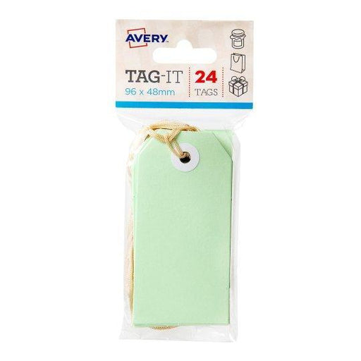 Croxley Avery Tag-It Luggage & Parcel Tags 96 x 48mm - Green