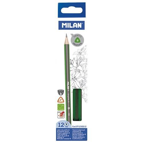 Croxley B Pencil Milan Graphite Triangular x 12