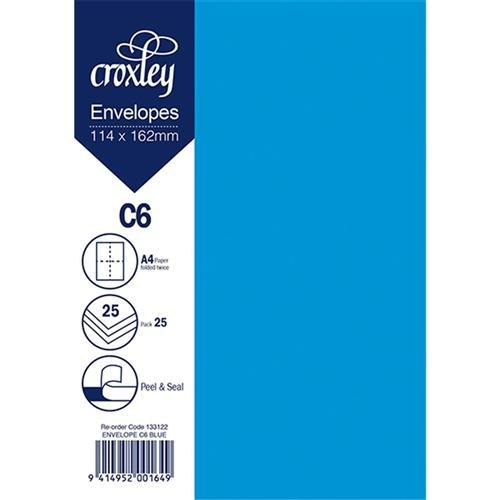 C6 / A6 Blue Colour Envelope