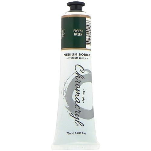 Croxley Chromacryl Acrylic Paint 75ml Tube - Forest Green
