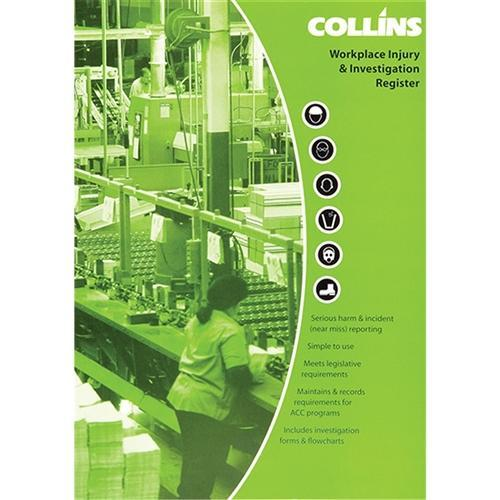 Croxley Collins A4 Workplace Injury & Accident Log Book