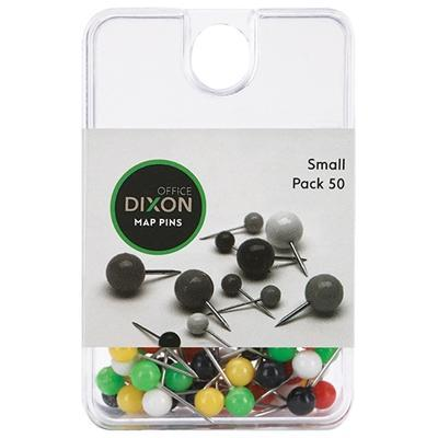 Croxley Dixon Map Pins Assorted Colours Small x 50