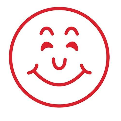 Croxley Dixon Rubber Stamp Large SMILEY FACE Red